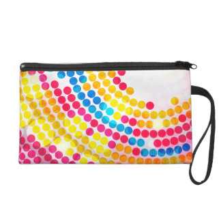 Colorful Circle Wristlet