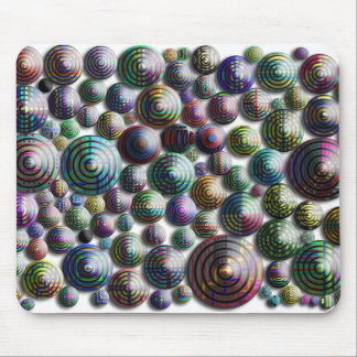 Colorful Circles 3D No Background Mouse Pad