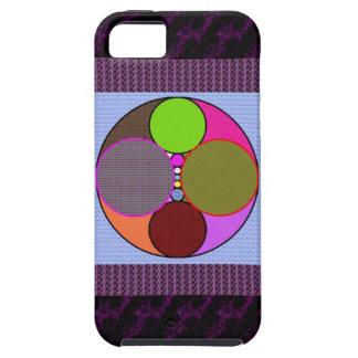 Colorful circles Abstract art iPhone 5 Case