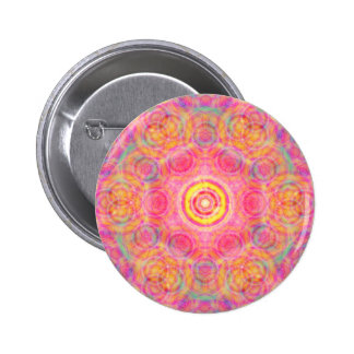 Colorful Circles: Abstract Art: Pinback Button
