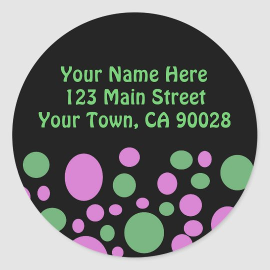 Colorful Circles Address Label