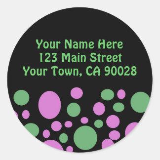 Colorful Circles Address Label Classic Round Sticker