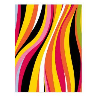 Colorful Circles And Dot Digital Styles Postcard