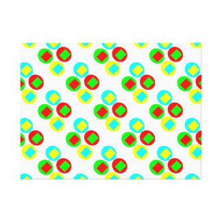 Colorful Circles and rectangles Canvas Print