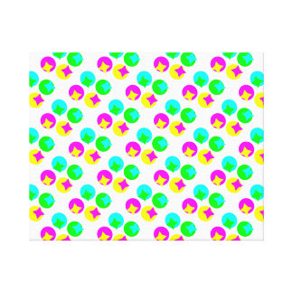 Colorful Circles and rectangles design Canvas Print