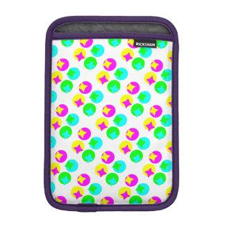 Colorful Circles and rectangles design iPad Mini Sleeve
