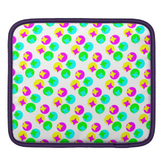 Colorful Circles and rectangles design Sleeves For iPads