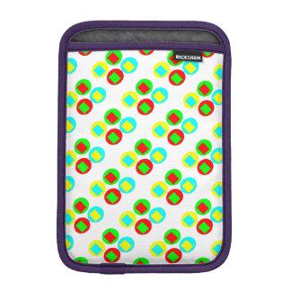 Colorful Circles and rectangles iPad Mini Sleeves