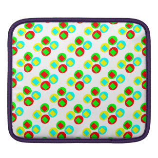 Colorful Circles and rectangles Sleeve For iPads
