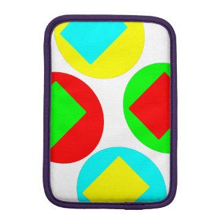 Colorful Circles and Squares design iPad Mini Sleeve