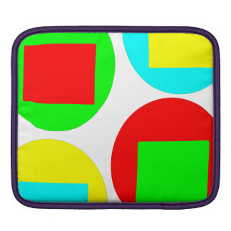 Colorful Circles and Squares design Sleeves For iPads
