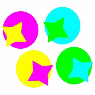 Colorful Circles and Stars Cutout