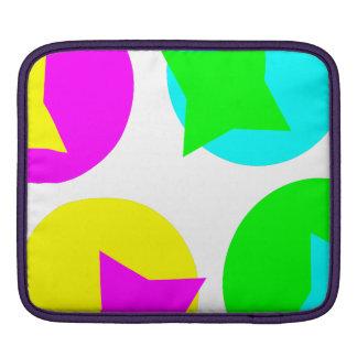 Colorful Circles and Stars iPad Sleeves