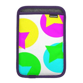 Colorful Circles and Stars Sleeve For iPad Mini