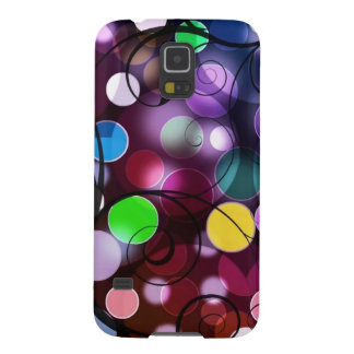 Colorful Circles And Swirls Digital Graphic Design Galaxy S5 Case