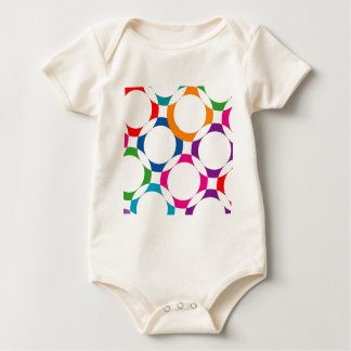 colorful circles baby bodysuit