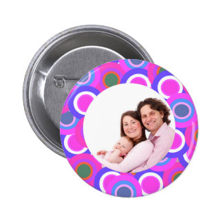 Colorful Circles 2 Inch Round Button