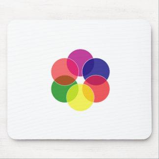 Colorful circles- color scheme mouse pad