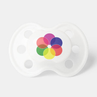 Colorful circles- color scheme baby pacifier
