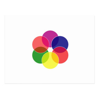 Colorful circles- color scheme postcard