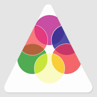 Colorful circles- color scheme triangle sticker