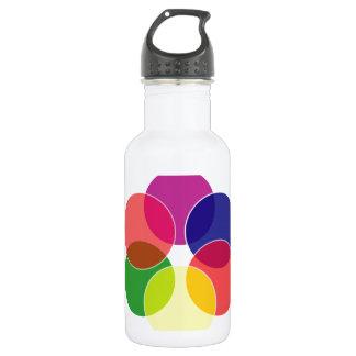Colorful circles- color scheme water bottle
