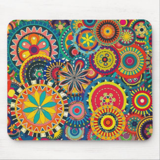 Colorful circles composition mousepads