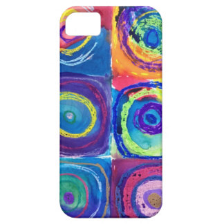 colorful circles cropped iPhone SE/5/5s case