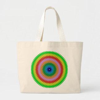 Colorful Circles Gears Bulls Eye Pattern Gifts Tote Bag