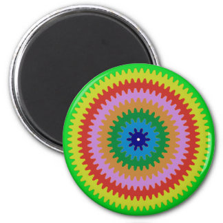 Colorful Circles Gears Bulls Eye Pattern Gifts Magnet