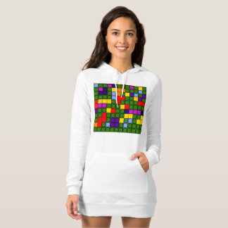 Colorful circles in squares t shirt