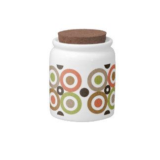 Colorful Circles Mod Motif Candy Jar