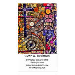 Colorful Circles Mosaic Southwestern Cross Design Business Card Template