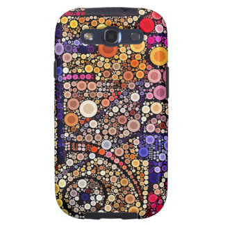 Colorful Circles Mosaic Southwestern Cross Design Samsung Galaxy S3 Cover
