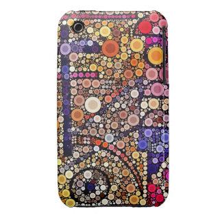 Colorful Circles Mosaic Southwestern Cross Design iPhone 3 Case-Mate Case