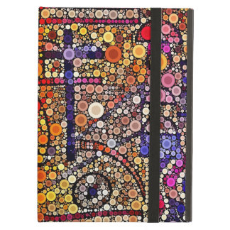 Colorful Circles Mosaic Southwestern Cross Design Case For iPad Air
