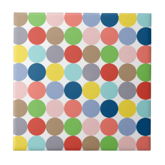 colorful circles of color in pastel ceramic tile