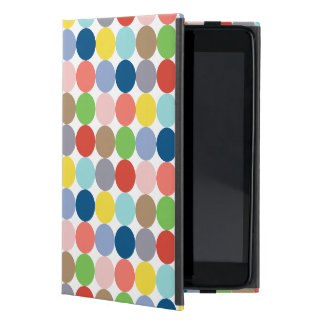 Colorful circles of color in pastel iPad mini case