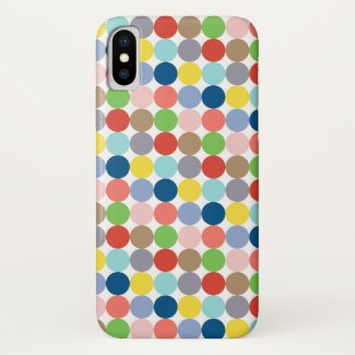 colorful circles of pastel color... iPhone XS case
