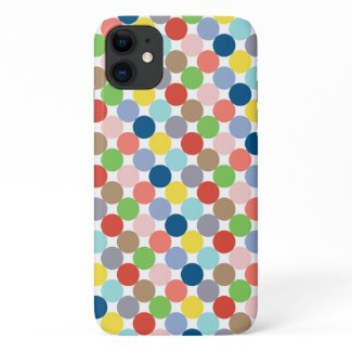 colorful circles of pastel color... iPhone 11 case