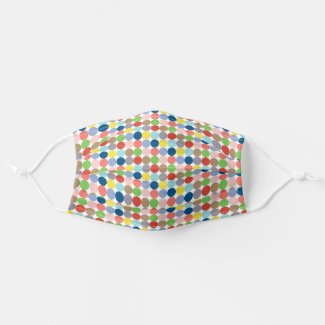 Colorful circles of pastel color cloth face mask