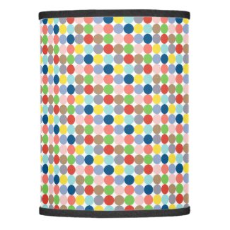 Colorful circles of pastel color lamp shade