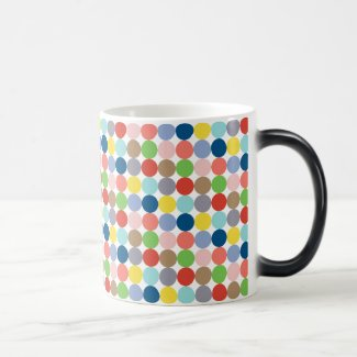colorful circles of pastel color... Magic Mug