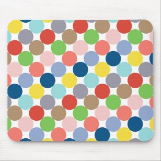 colorful circles of pastel color... mouse pad
