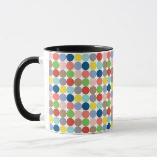 colorful circles of pastel color... mug