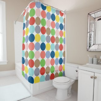 colorful circles of pastel color... shower curtain