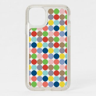 colorful circles of pastel color... speck iPhone 11 case