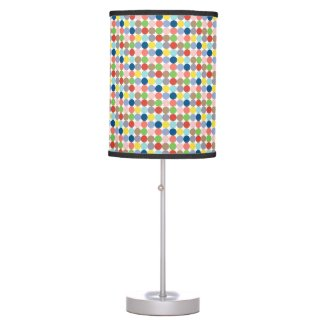 Colorful circles of pastel color table lamp