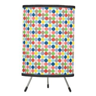 Colorful circles of pastel color tripod lamp