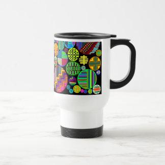 Colorful Circles on a black background Mug